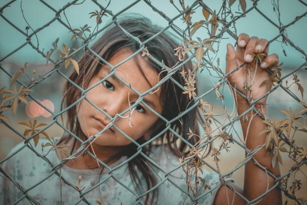 Girl Through A wire
