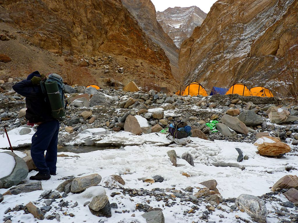 Chadar Trek near Tibb Camp.